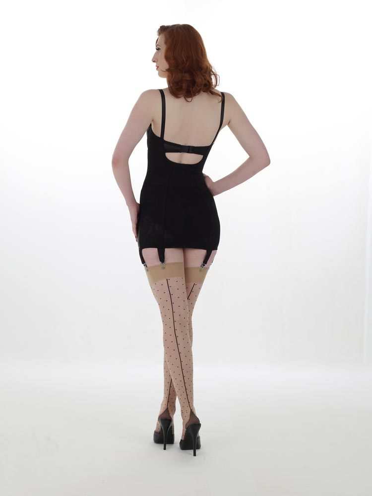 What Katie Did Polka Dots Seamed Stockings Sweet Pins