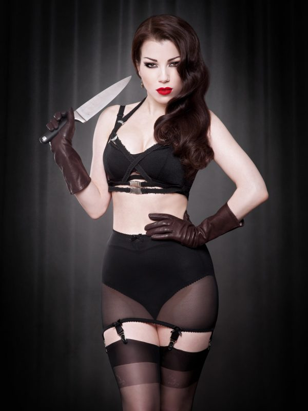 Kiss Me Deadly Vargas Roll On Girdle Black