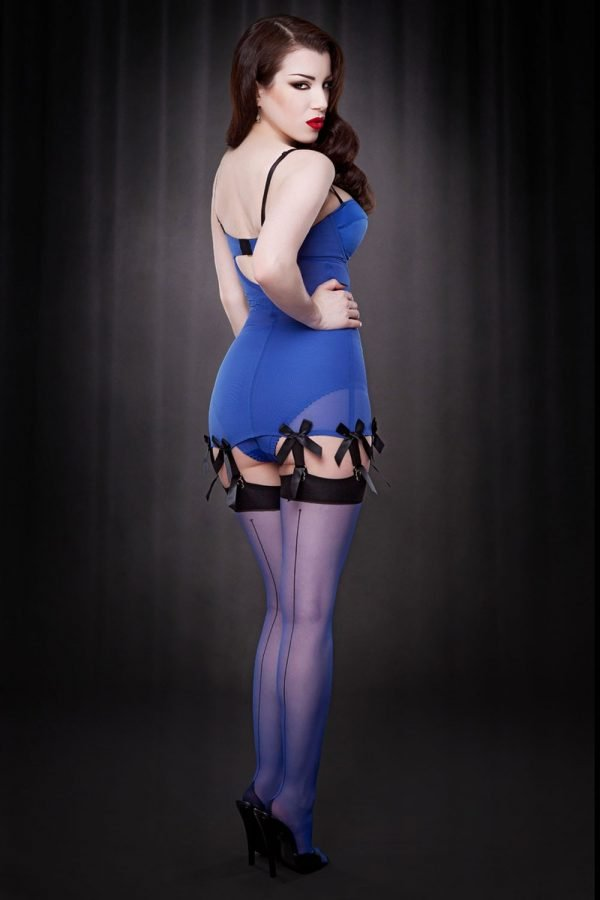 Kiss me Deadly Blue Seamed Stockings