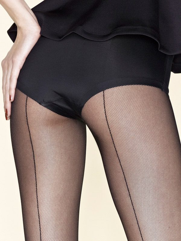 Gerbe Sevilla Seamed Fishnet Tights