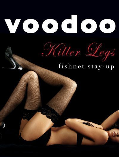 Voodoo Killer Legs Fishnet Hold Ups