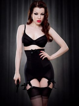 Kiss Me Deadly Vargas Longline Girdle Black