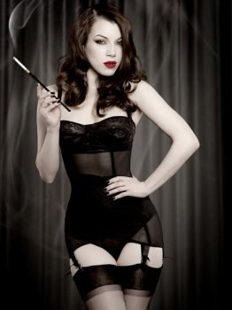 Kiss Me Deadly Vargas Suspender Dress